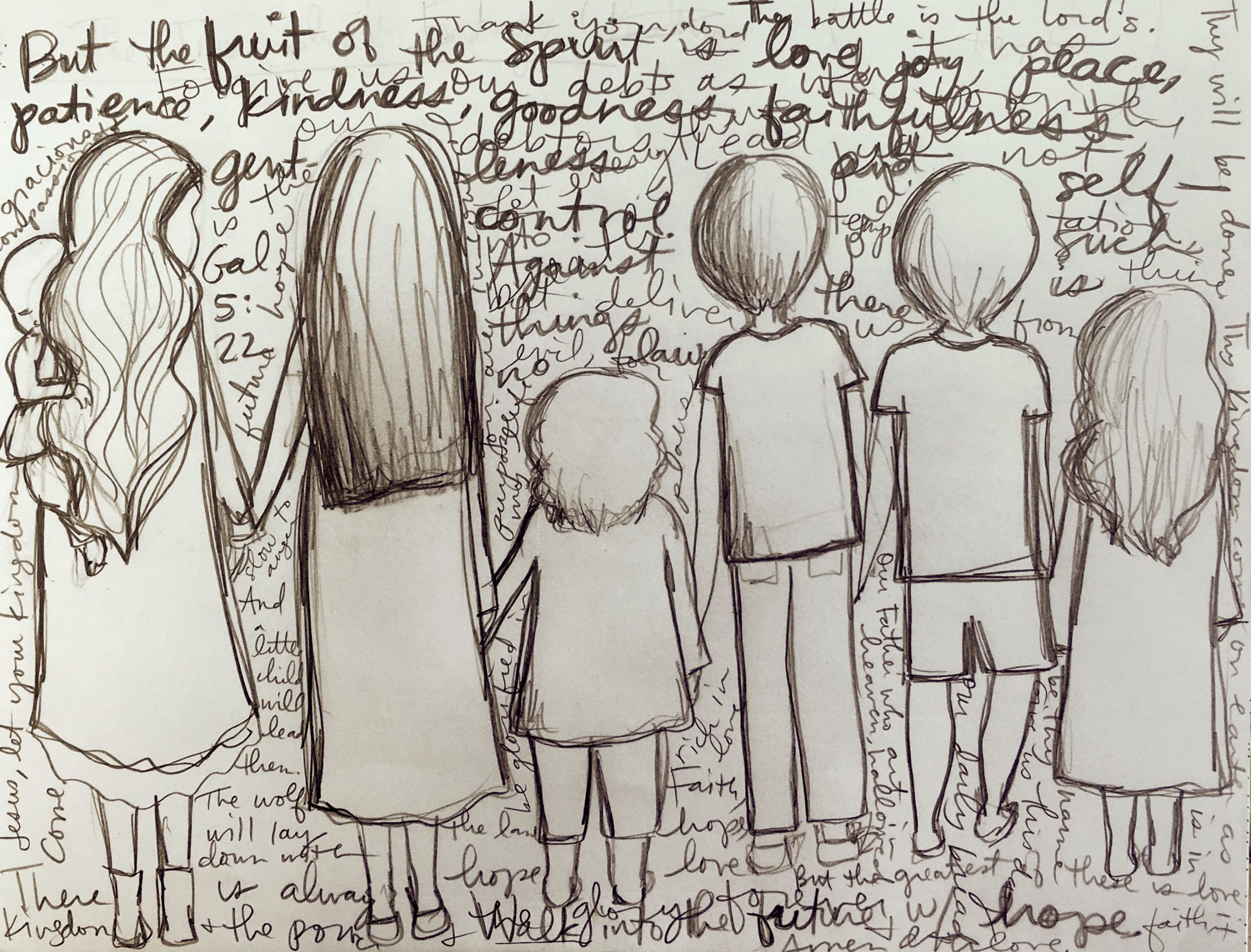 mackenzie chester, pattern, family, homeschool, Christian life, drawing, large family, home, faith, the sacred everyday